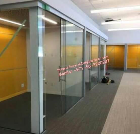 office glass sliding door partition