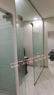 glass door adjustment