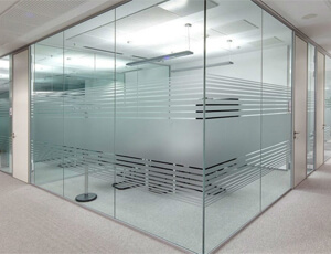 full office glass partition in Dubai